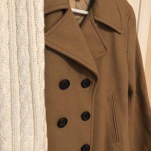 JCrew camel pea coat! Excellent condition!